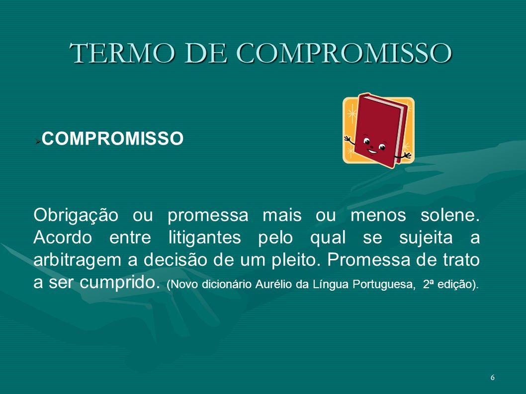 TERMO DE COMPROMISSO COMPROMISSO