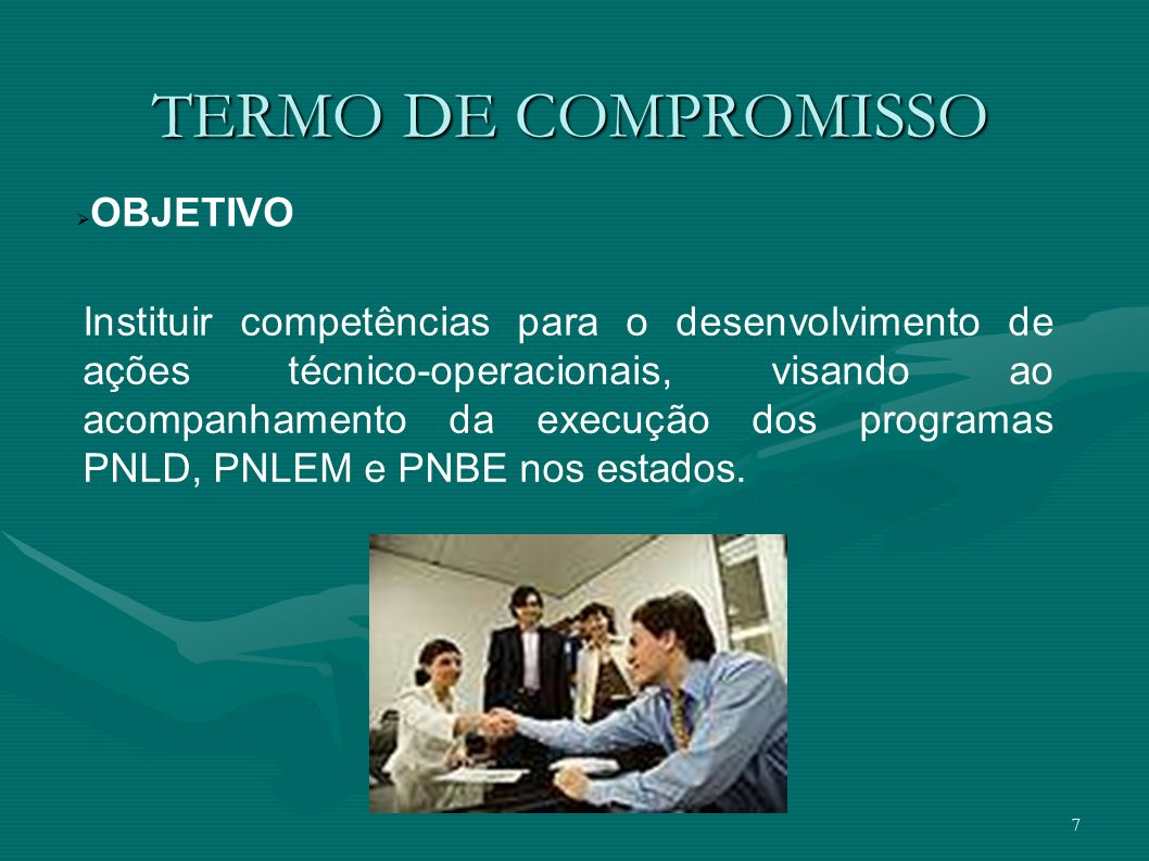 TERMO DE COMPROMISSO OBJETIVO