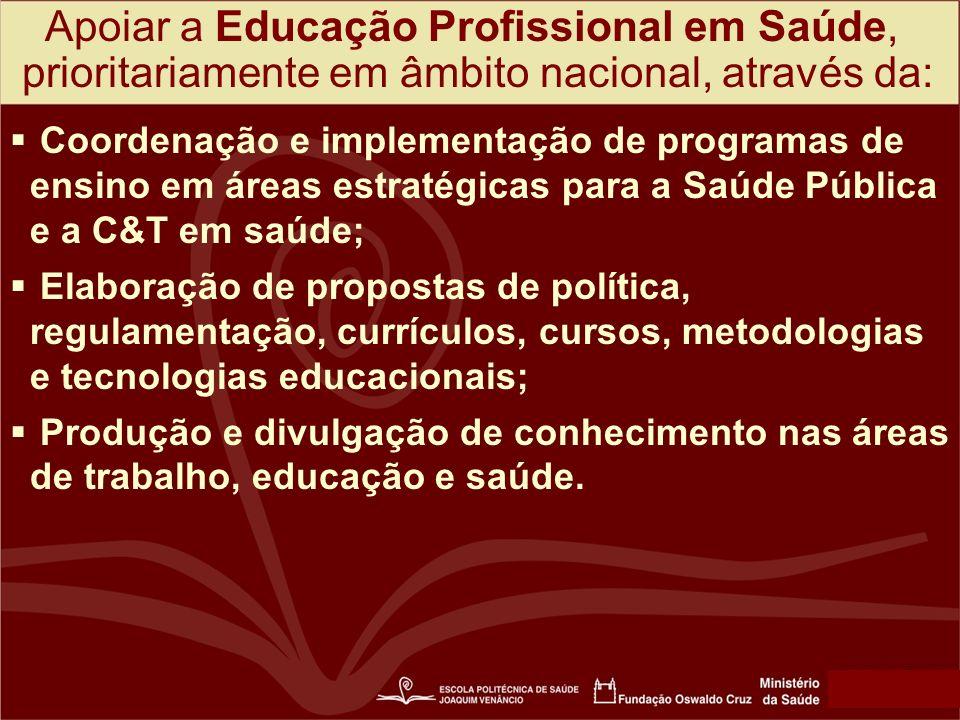 Apoiar a Educação Profissional em Saúde,