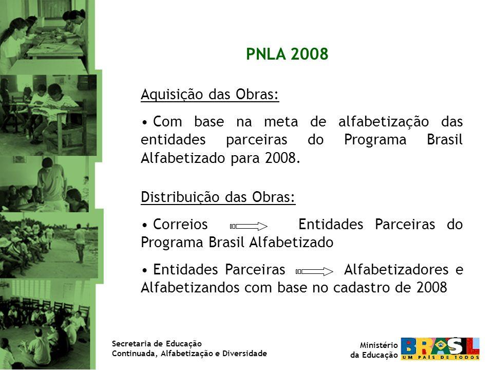 PNLA 2008 Aquisição das Obras: