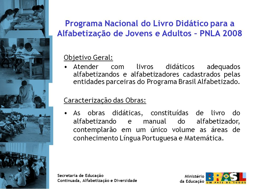 Programa Nacional do Livro Didático para a Alfabetização de Jovens e Adultos – PNLA