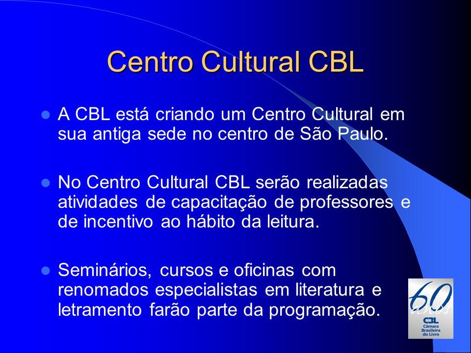 Centro Cultural CBL A CBL está criando um Centro Cultural em sua antiga sede no centro de São Paulo.