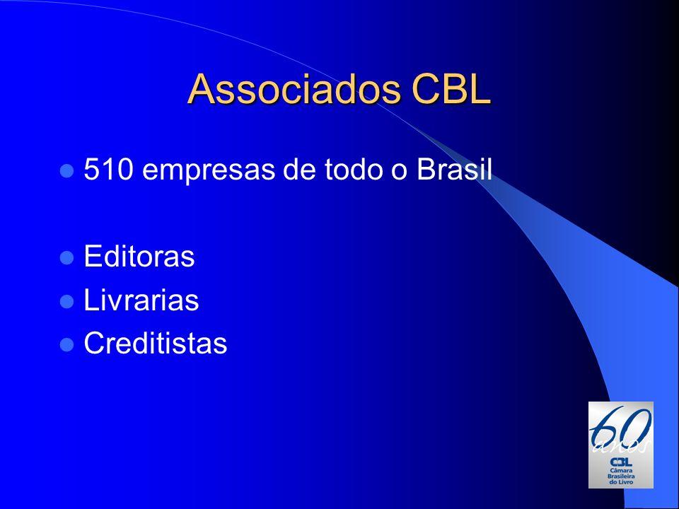 Associados CBL 510 empresas de todo o Brasil Editoras Livrarias
