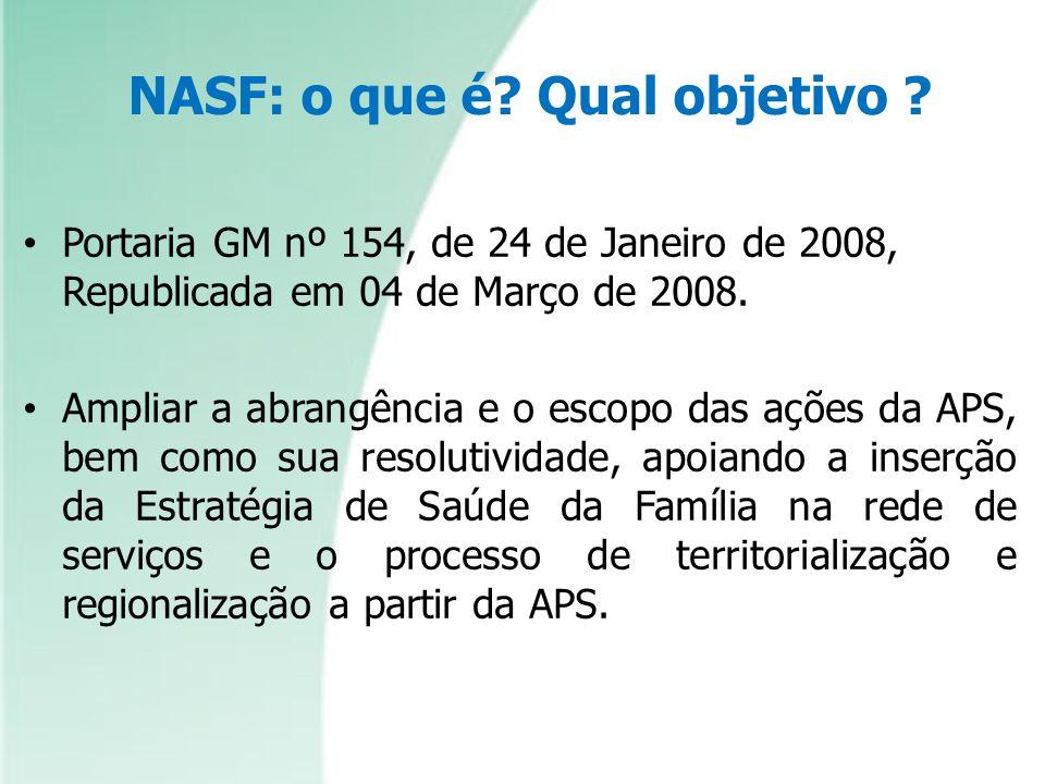 NASF: o que é Qual objetivo