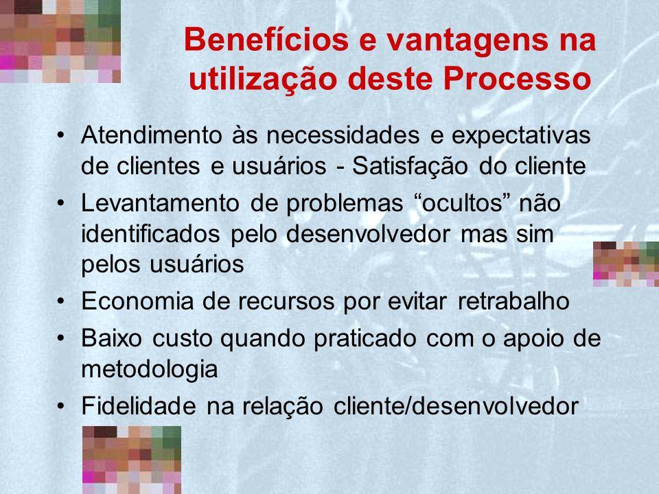 Benefícios e vantagens na utilização deste Processo