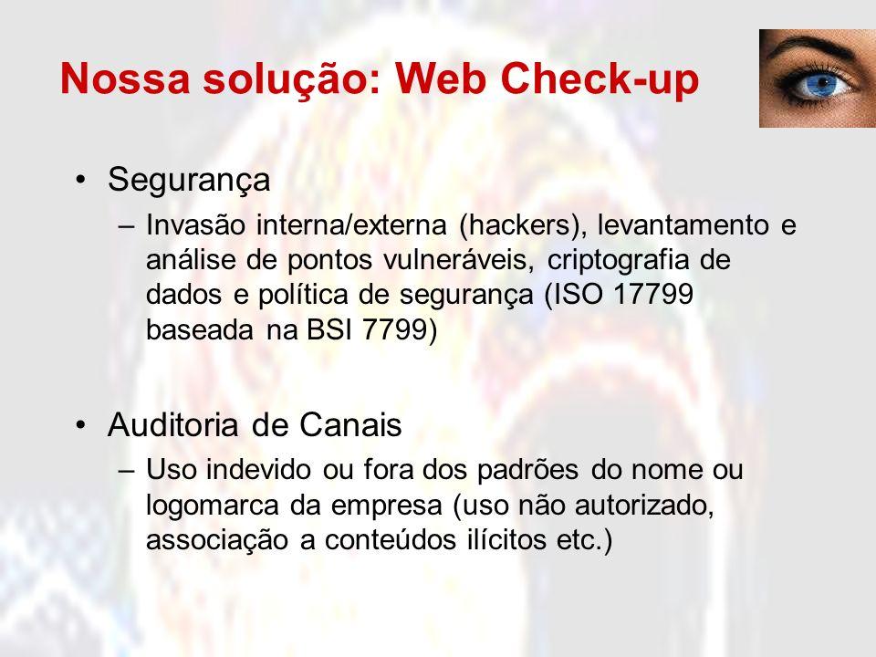 Nossa solução: Web Check-up