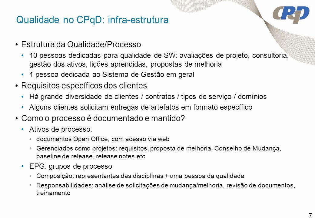 Qualidade no CPqD: infra-estrutura