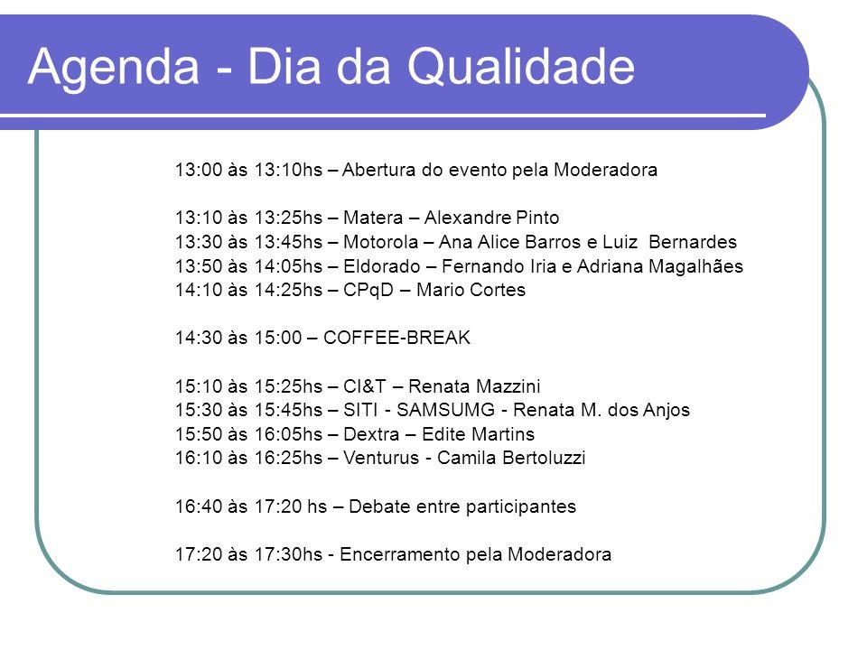 Agenda - Dia da Qualidade