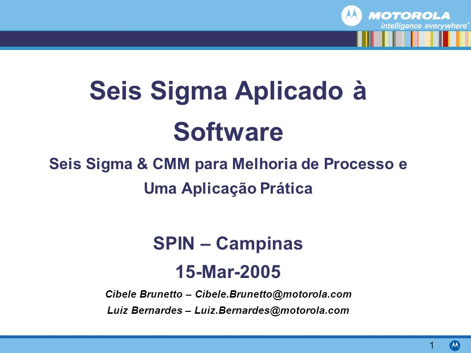 Seis Sigma Aplicado à Software