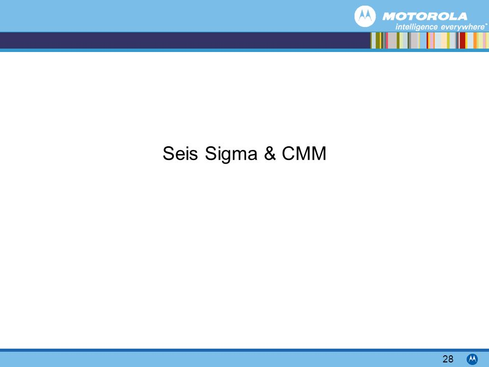 Seis Sigma & CMM
