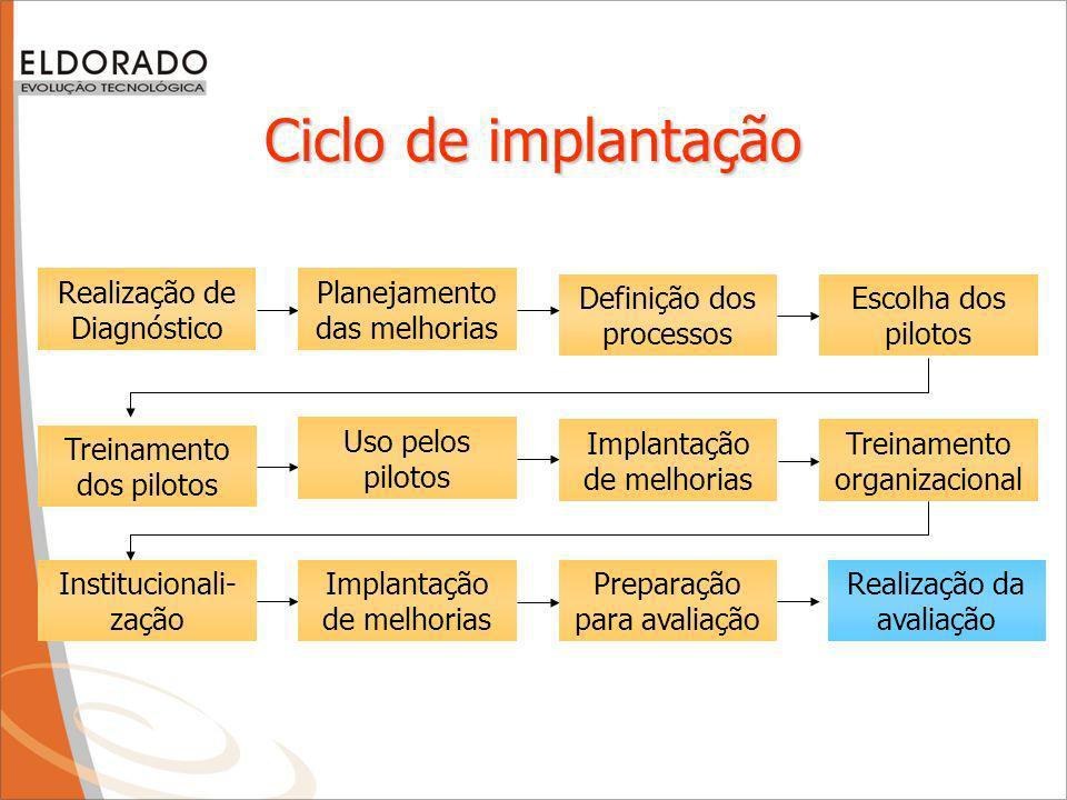 Ciclo de implantação Realização de Diagnóstico
