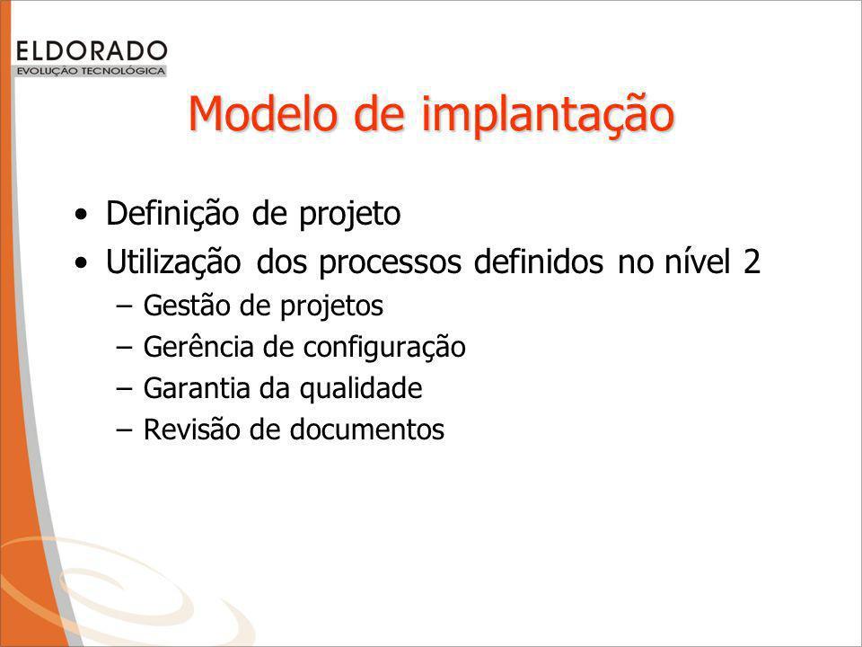 Modelo de implantação Definição de projeto