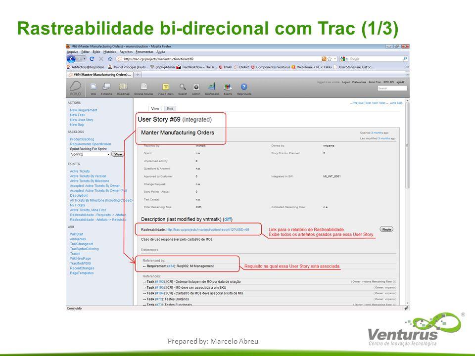 Rastreabilidade bi-direcional com Trac (1/3)