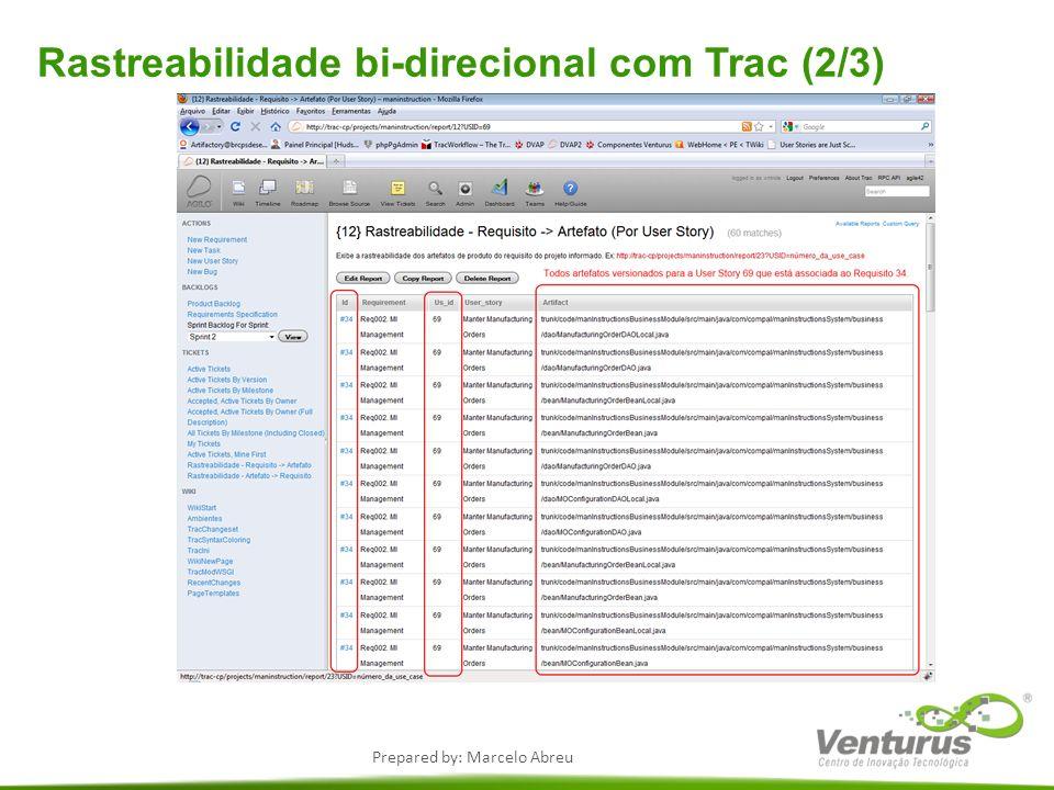 Rastreabilidade bi-direcional com Trac (2/3)