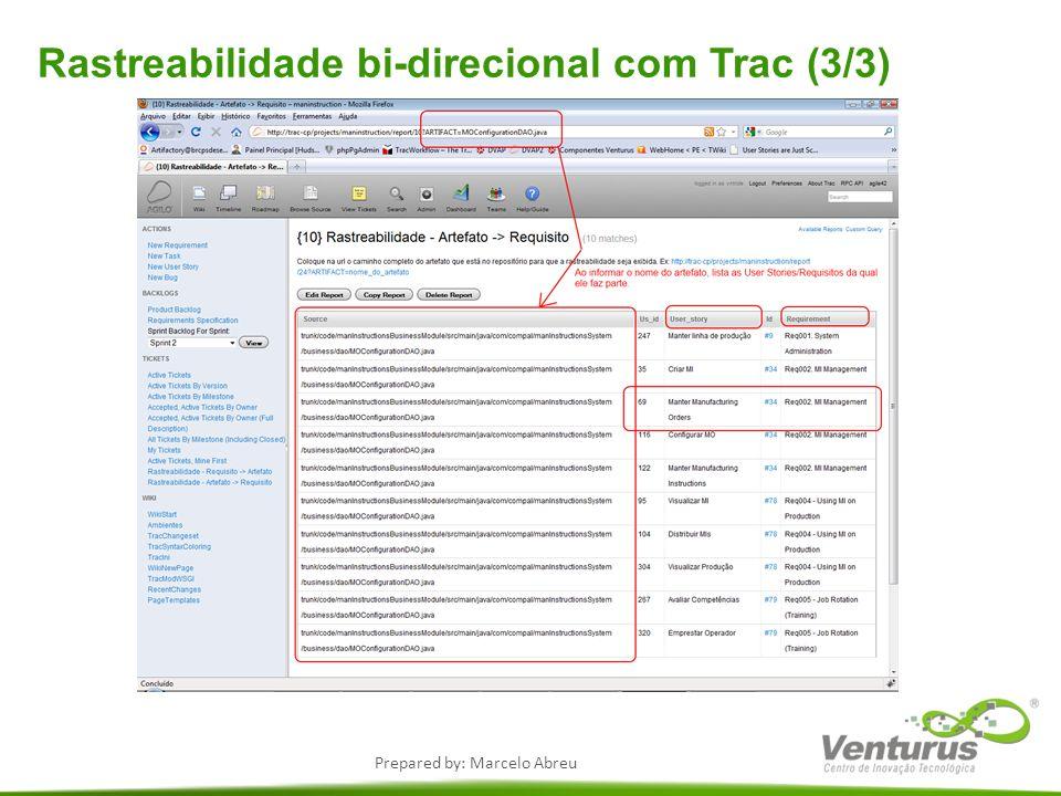 Rastreabilidade bi-direcional com Trac (3/3)
