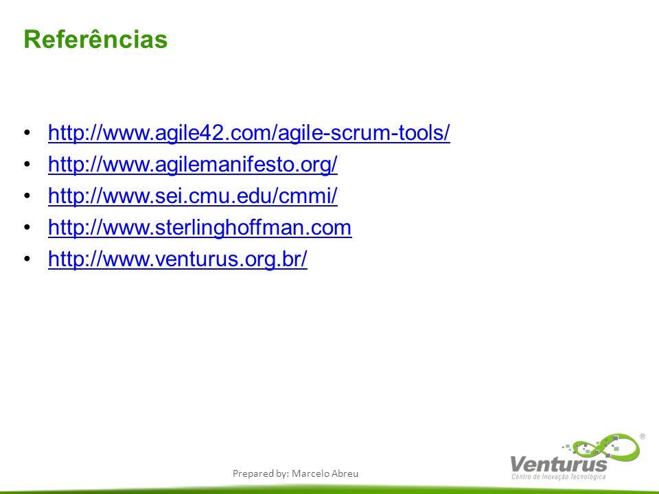 Referências http://www.agile42.com/agile-scrum-tools/