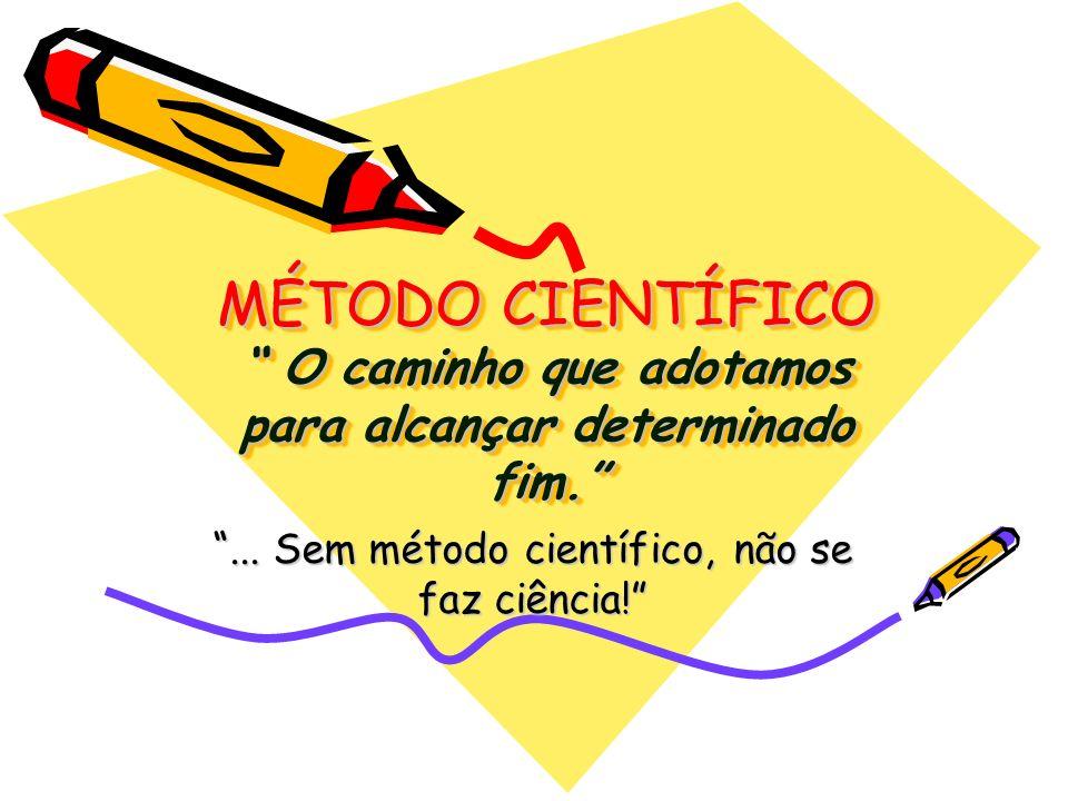 ... Sem método científico, não se faz ciência!