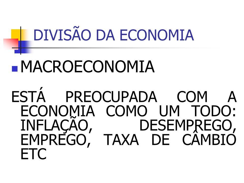 MACROECONOMIA DIVISÃO DA ECONOMIA