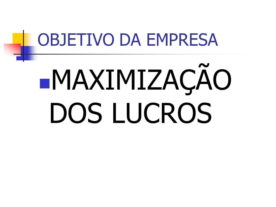 MAXIMIZAÇÃO DOS LUCROS