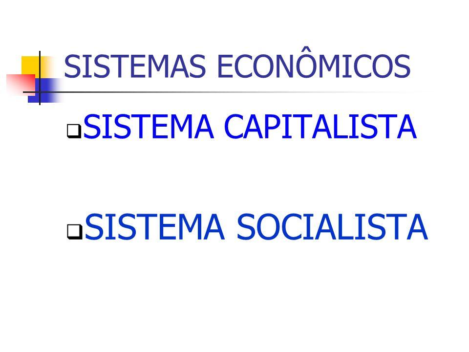 SISTEMAS ECONÔMICOS SISTEMA CAPITALISTA SISTEMA SOCIALISTA