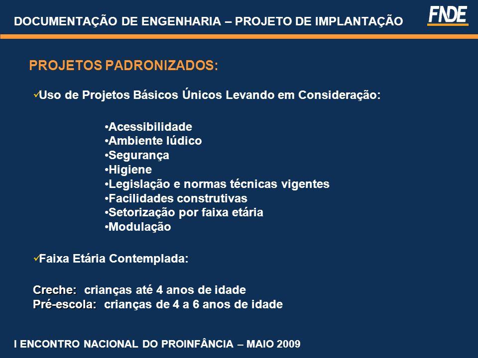 DOCUMENTAÇÃO DE ENGENHARIA – PROJETO DE IMPLANTAÇÃO