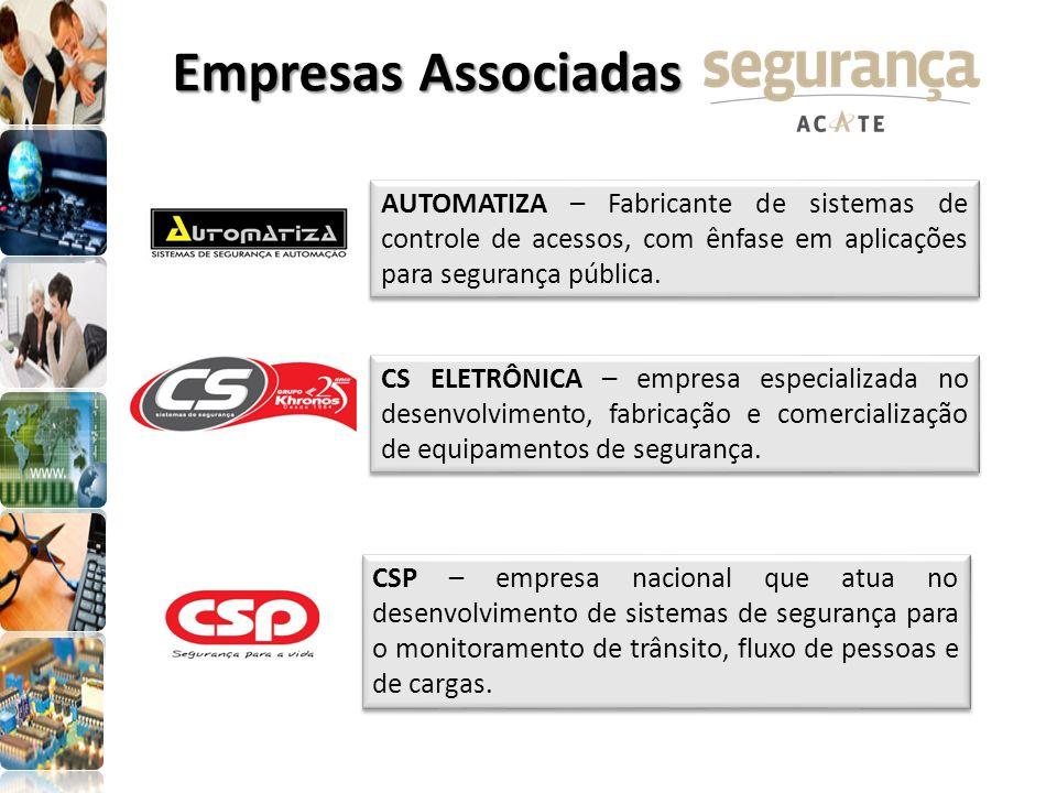 Empresas AssociadasAUTOMATIZA – Fabricante de sistemas de controle de acessos, com ênfase em aplicações para segurança pública.