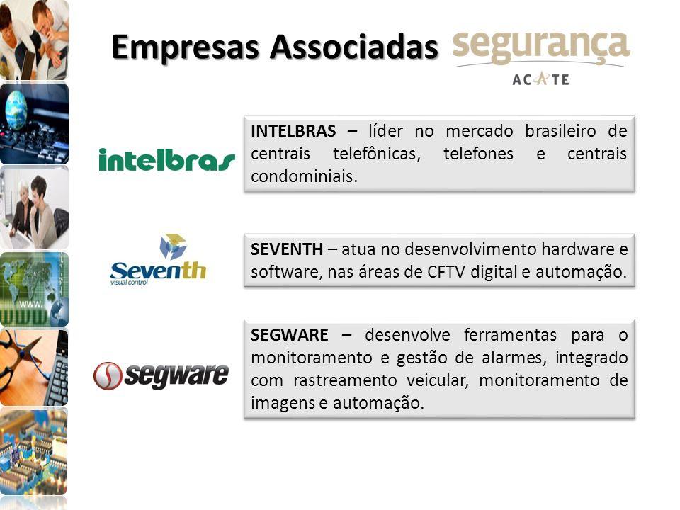 Empresas Associadas INTELBRAS – líder no mercado brasileiro de centrais telefônicas, telefones e centrais condominiais.