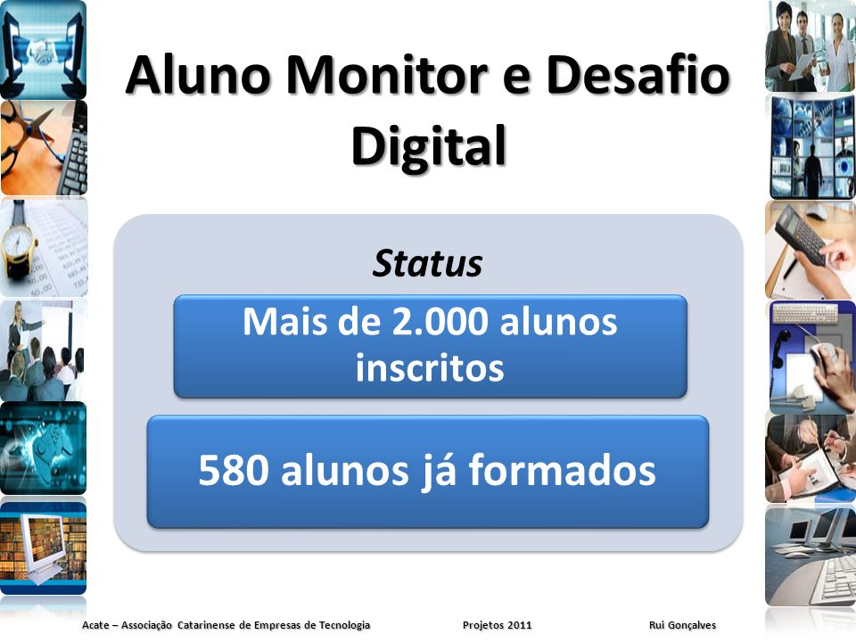Aluno Monitor e Desafio Digital
