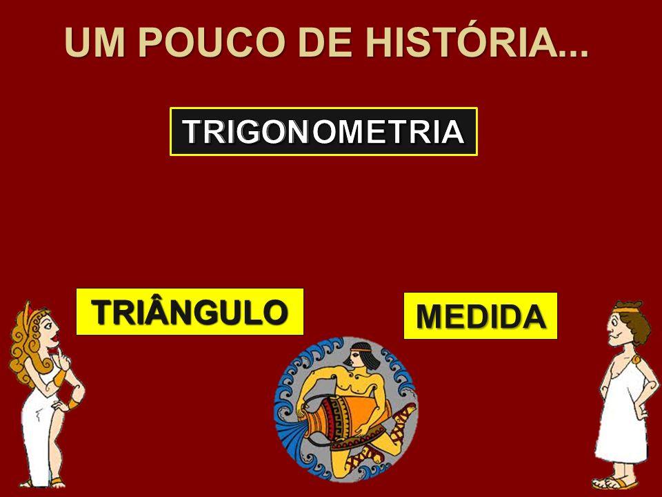 UM POUCO DE HISTÓRIA... TRIGON TRIGONOMETRIA METRIA TRIÂNGULO MEDIDA