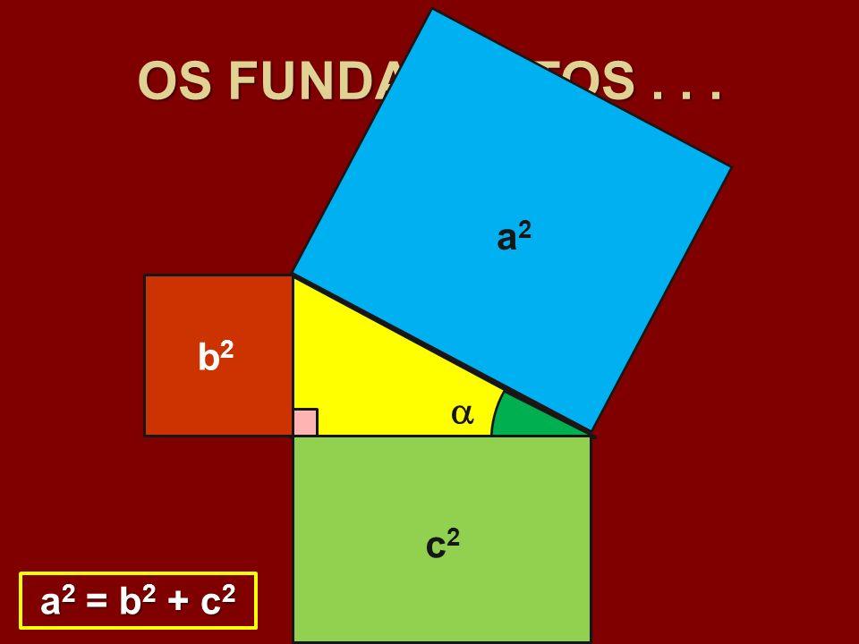 OS FUNDAMENTOS . . . a2 a b2 b  c c2 a2 = b2 + c2