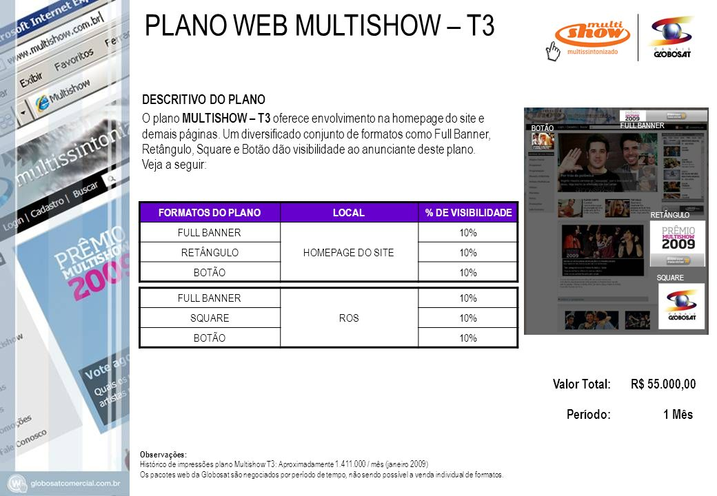 PLANO WEB MULTISHOW – T3 DESCRITIVO DO PLANO