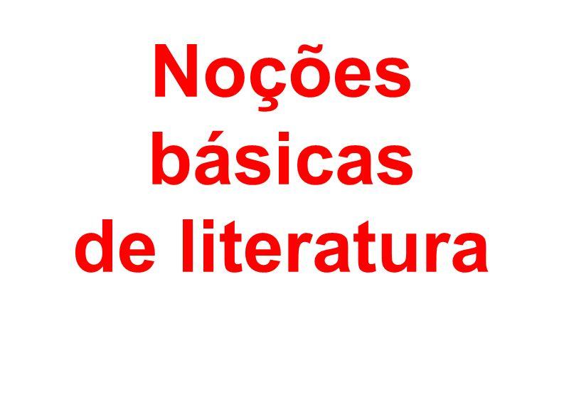 Noções básicas de literatura
