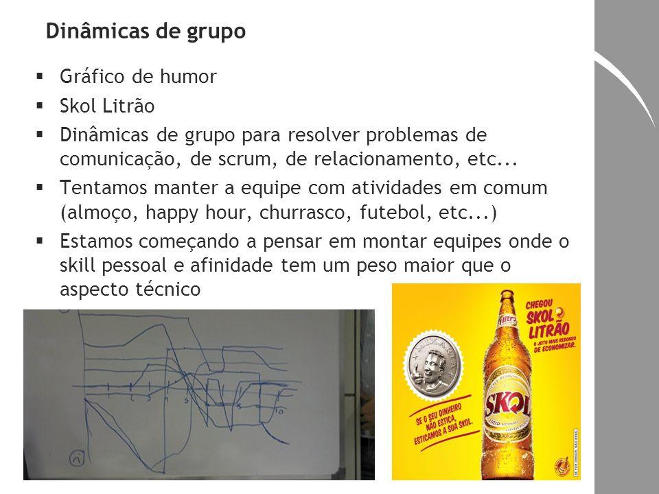 Dinâmicas de grupo Gráfico de humor Skol Litrão