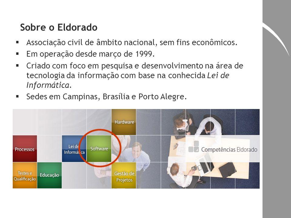 Sobre o Eldorado Associação civil de âmbito nacional, sem fins econômicos. Em operação desde março de 1999.