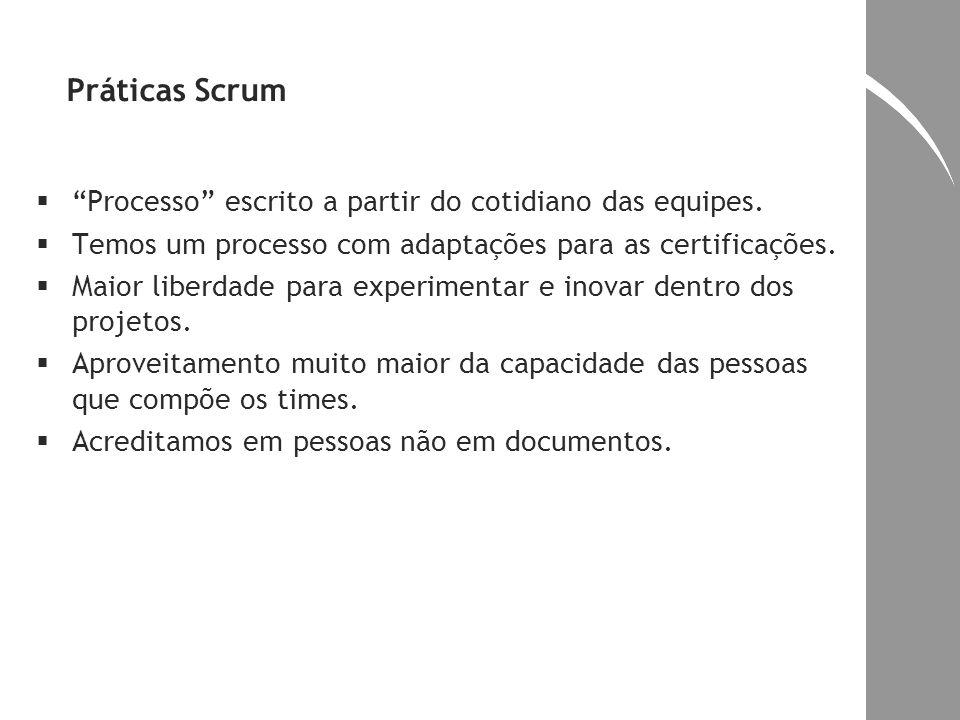 Práticas Scrum Processo escrito a partir do cotidiano das equipes.