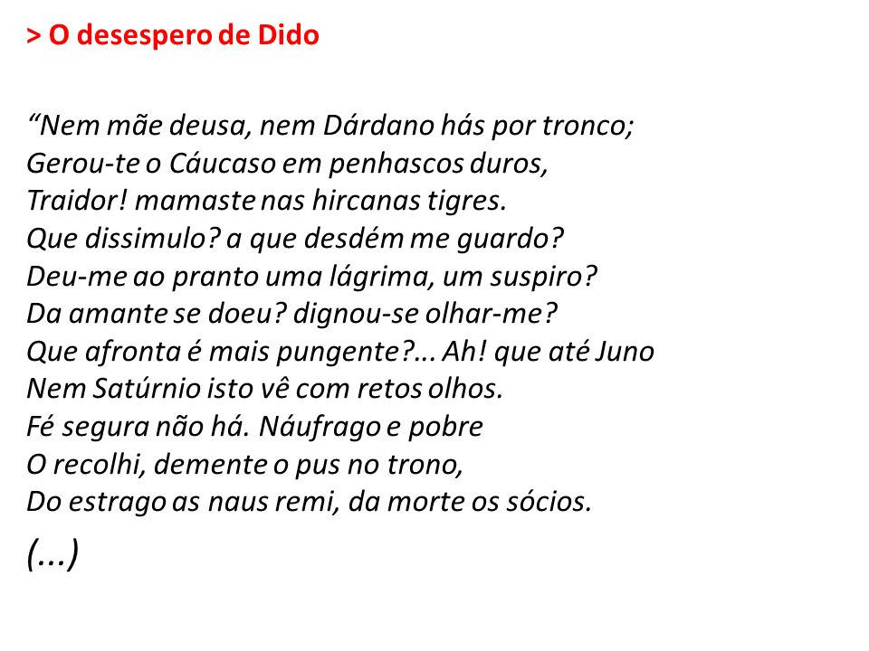 (...) > O desespero de Dido