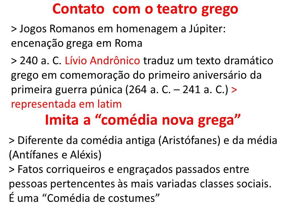 Contato com o teatro grego