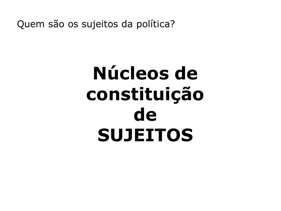 Núcleos de constituição de SUJEITOS