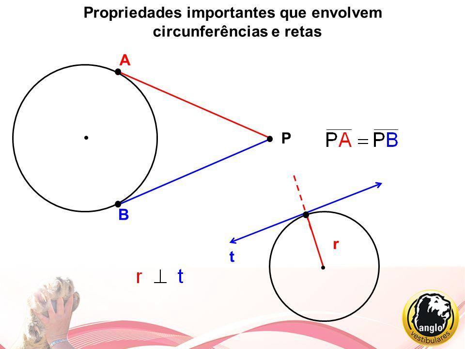Propriedades importantes que envolvem circunferências e retas