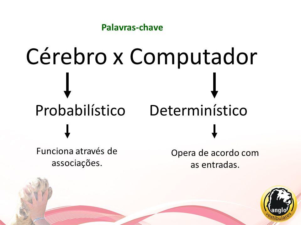 Cérebro x Computador Probabilístico Determinístico Palavras-chave