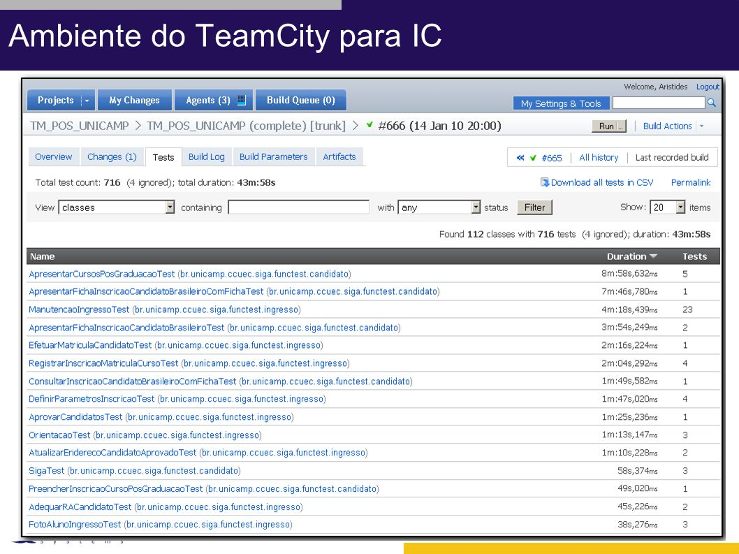 Ambiente do TeamCity para IC