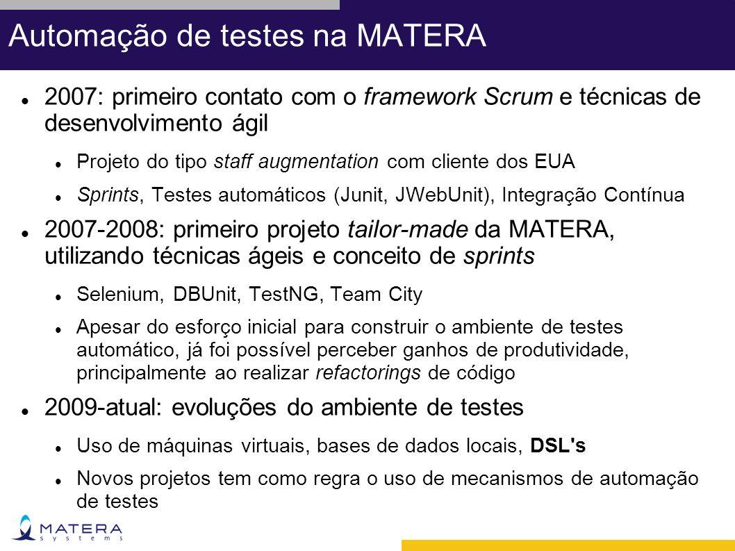 Automação de testes na MATERA
