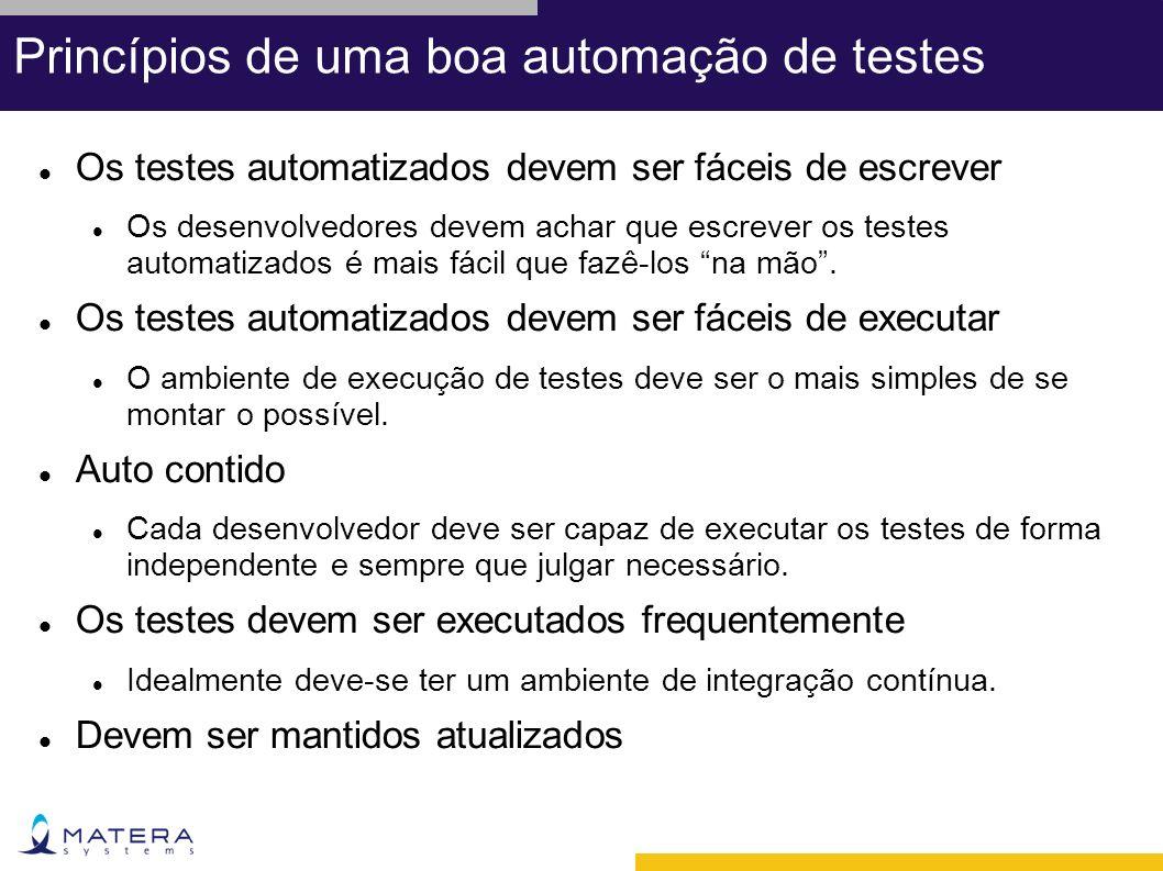 Princípios de uma boa automação de testes