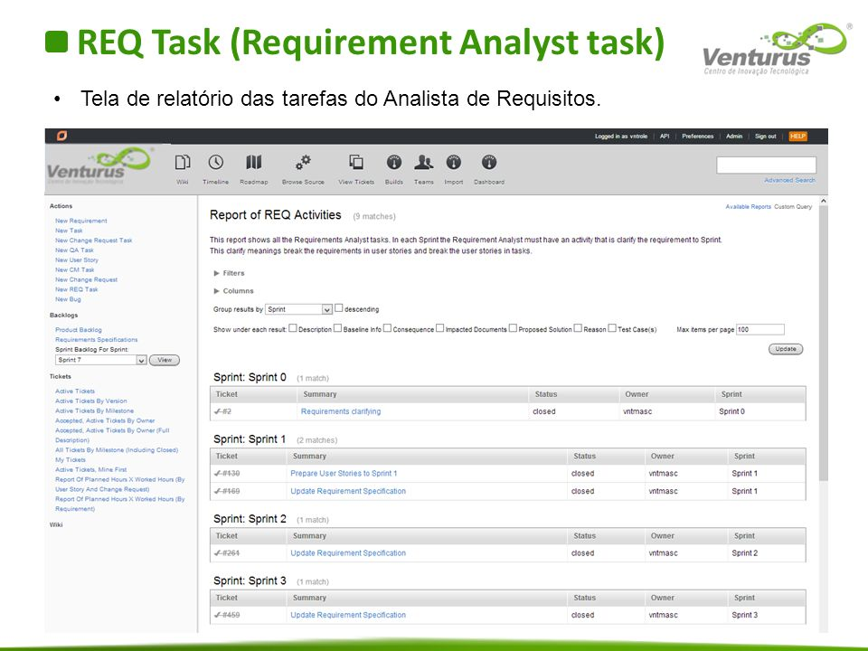 REQ Task (Requirement Analyst task)