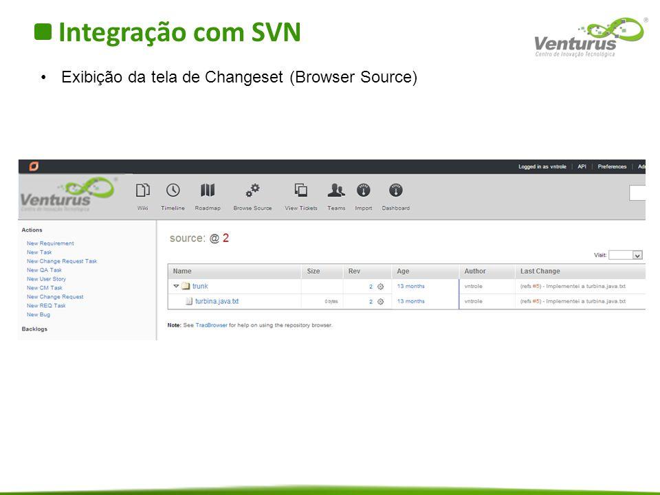 Integração com SVN Exibição da tela de Changeset (Browser Source)