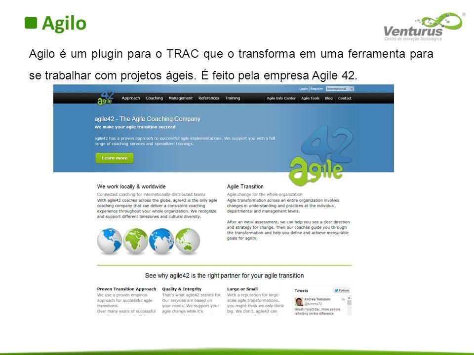 Agilo Agilo é um plugin para o TRAC que o transforma em uma ferramenta para se trabalhar com projetos ágeis.