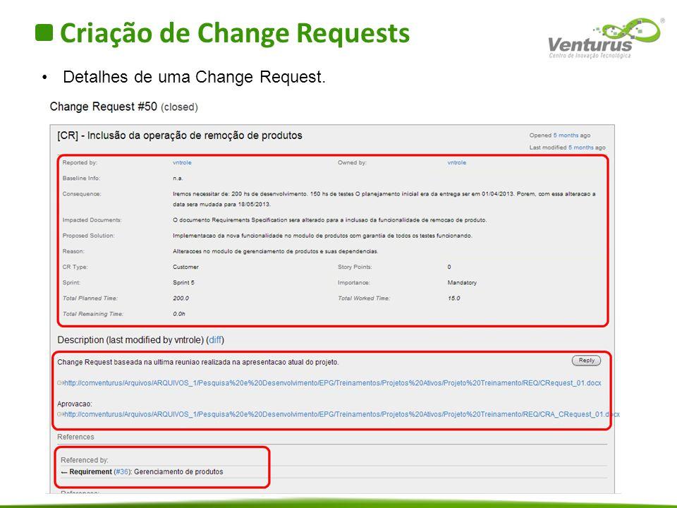 Criação de Change Requests
