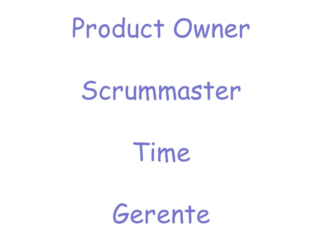 Product Owner Scrummaster Time Gerente