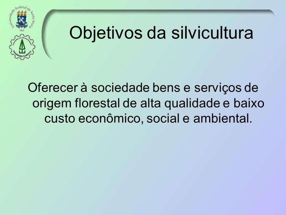 Objetivos da silvicultura