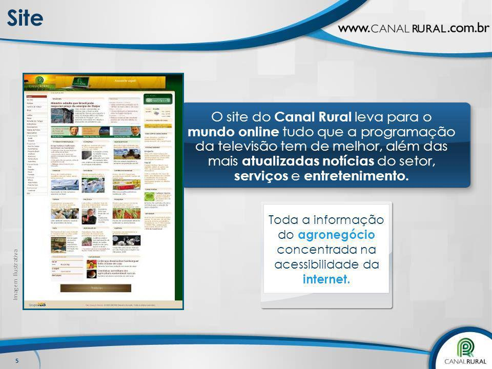 O site do Canal Rural leva para o